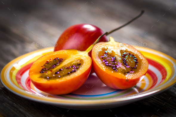 Fresh fruit tamarillo - Stock Photo - Images