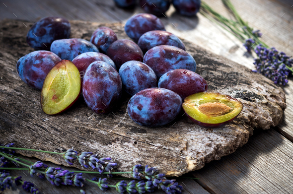Fresh plums  - Stock Photo - Images