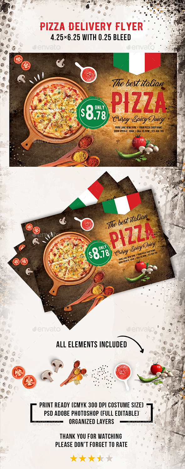 Download Pizza Delivery Flyer Template For Free nullz GFX VIDEO – Lunch Flyer Template