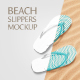 Beach Slippers Mockup - GraphicRiver Item for Sale