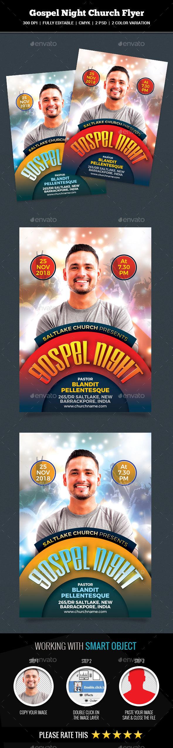 GraphicRiver Gospel Night Church Flyer 20942895