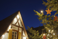 Christmas Tree And House At Night, Germany