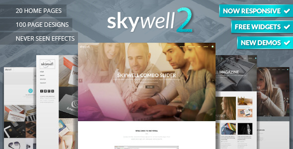 Skywell - MultiPurpose Adobe Muse Template
