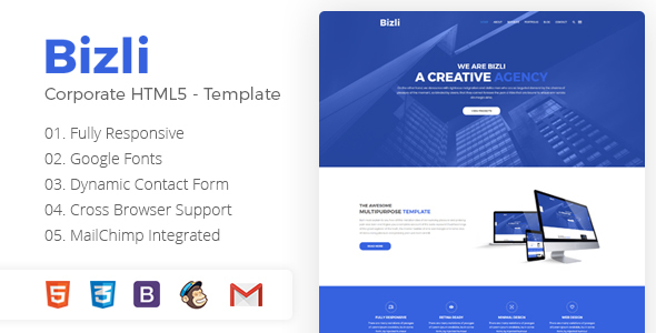 ThemeForest Bizli Corporate Business HTML Template 20808011