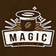 Magic Coffee Logo Template