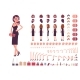 Girl in Evening Dress Character Creation Set