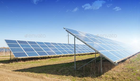 solar plant - Stock Photo - Images
