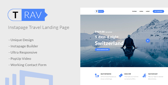 Download Trav | Instapage Travel Landing Page            nulled nulled version