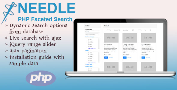 CodeCanyon Needle PHP Faceted Search 20893064