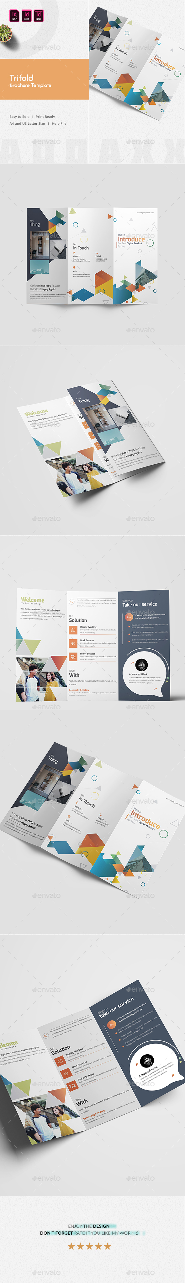 GraphicRiver Trifold Brochure Template 20943585