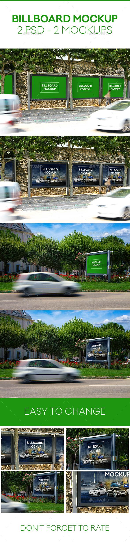 Photorealistic Billboard Mockup - Signage Print