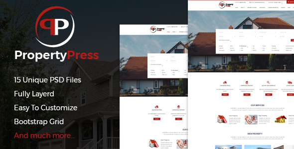 ThemeForest PropertyPress PSD Template 20826431