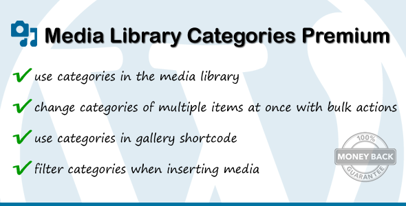 Media Library Categories Premium - CodeCanyon Item for Sale