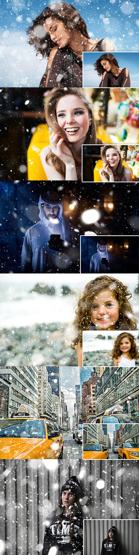 GraphicRiver Let It Snow Photoshop Action 20943900