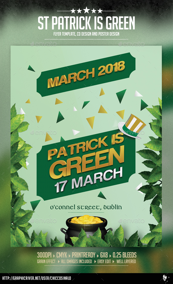 GraphicRiver St Patrick is Green Flyer Template 20944077