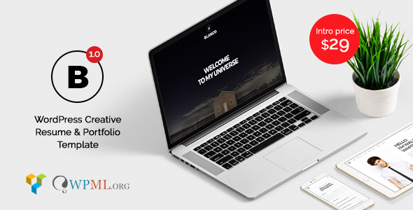 ThemeForest Blanco Creative Resume & Portfolio 20348420