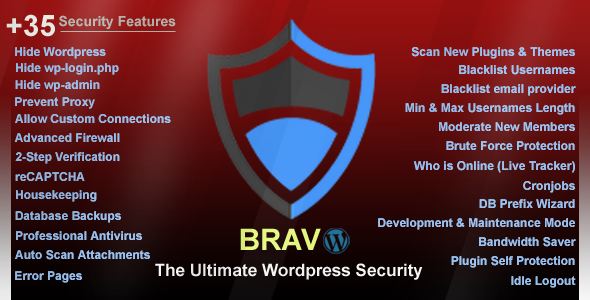 CodeCanyon Bravo Wordpress Security Plugin 20944256