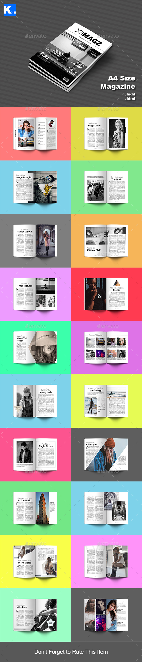 Indesign Magazine Template 4 - Magazines Print Templates