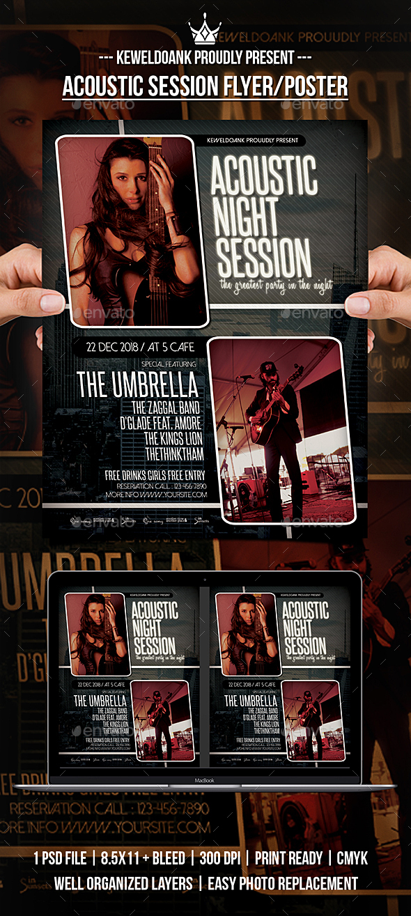 GraphicRiver Acoustic Session Flyer Poster 20944751