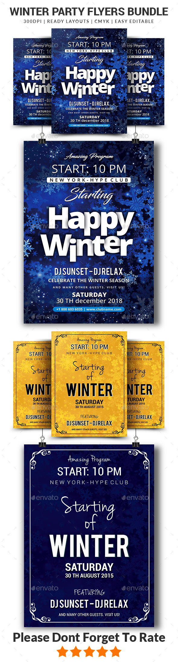 GraphicRiver Winter Flyers Bundle Templates 20944754