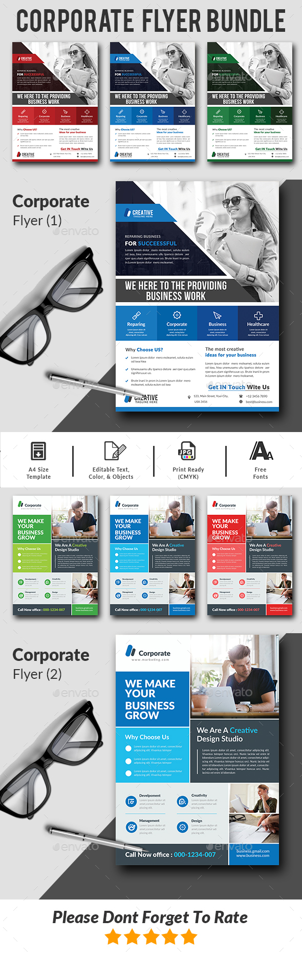 Corporate Flyers Bundle Templates - Corporate Flyers