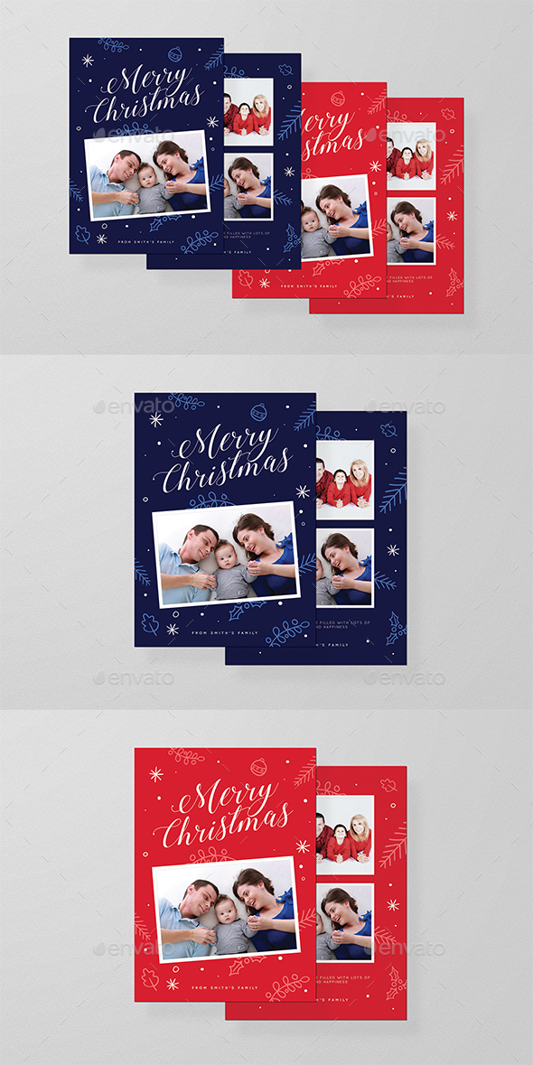 Christmas PhotoCard or Greeting Card - Holiday Greeting Cards