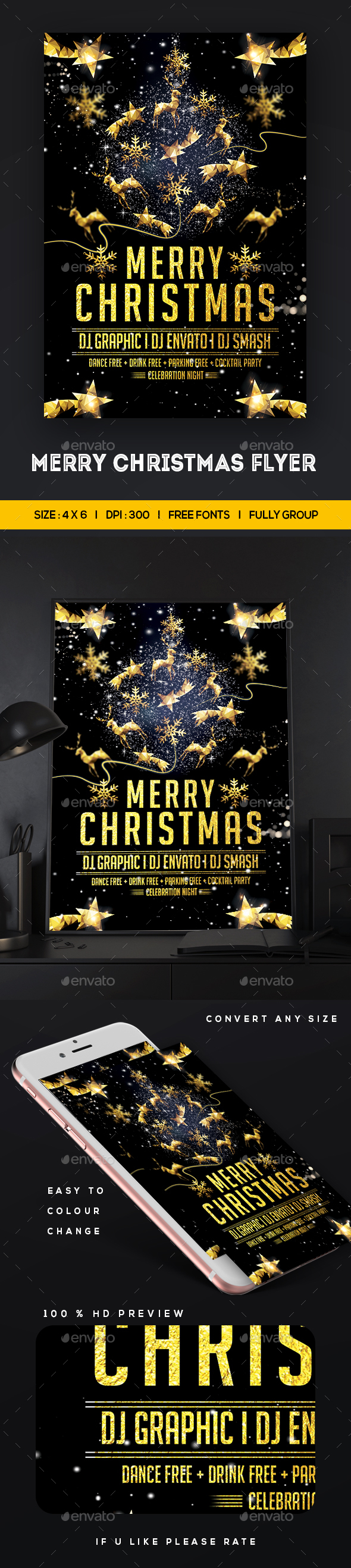 GraphicRiver Merry Christmas Flyer 20944885