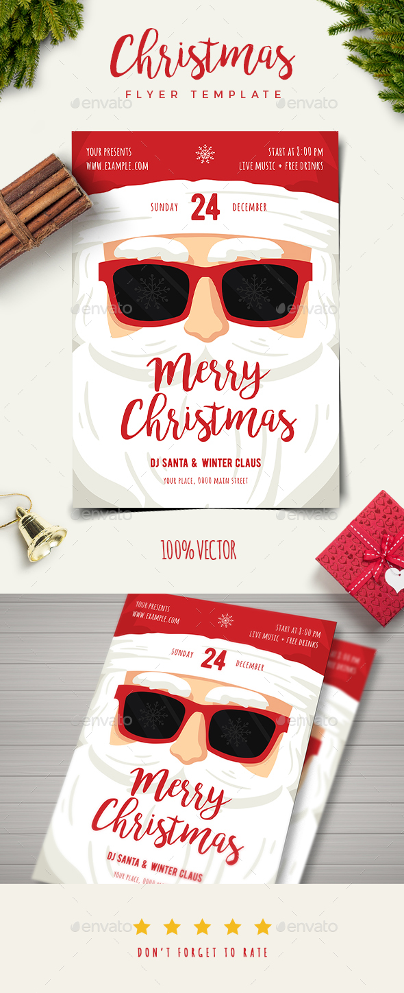 Christmas Santa Claus Flyer - Holidays Events
