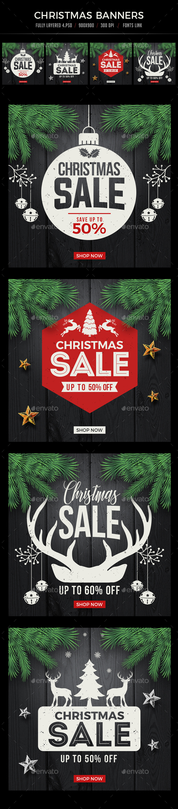 GraphicRiver Christmas Banners 20945385