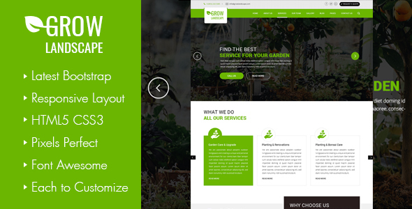 Grow Landscaping and Gardening WordPress Theme