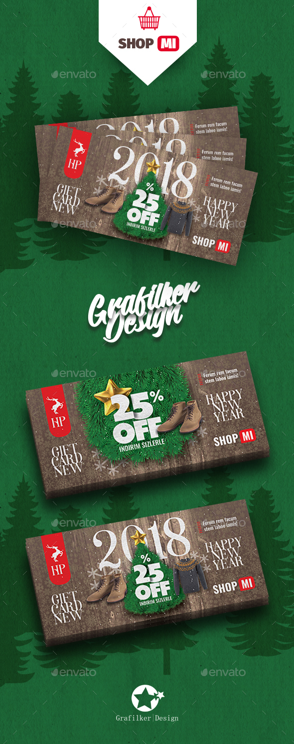 Christmas Gift Card Templates - Cards & Invites Print Templates
