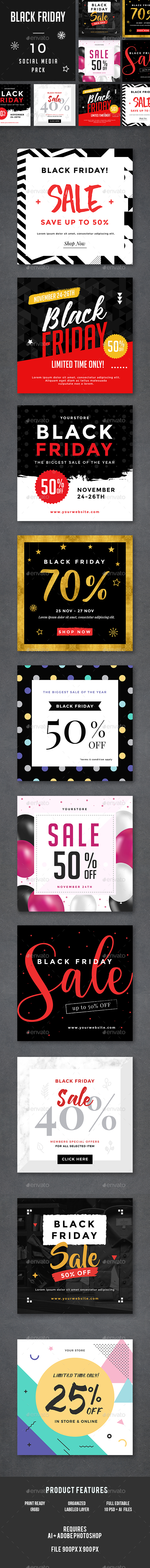 Black Friday Banners - Social Media Web Elements