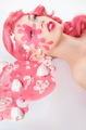 Conceptual pink beauty photoshot