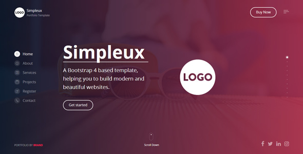 Download Free Simpleux - Beautiful Creative Website Template for Agency, Business and Portfolio