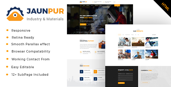 Jaunpur - Industrial Business HTML Template - Business Corporate
