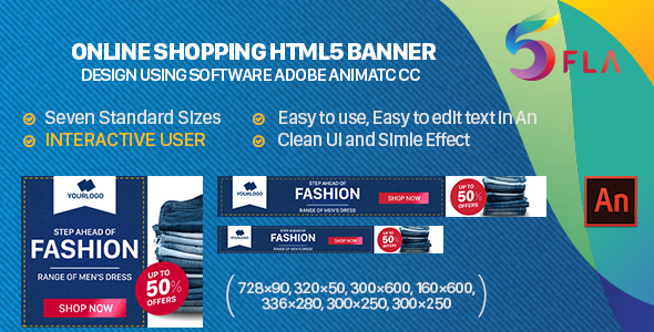 CodeCanyon Online Shopping HTML5 Banner INTERACTIVE USER 20946176