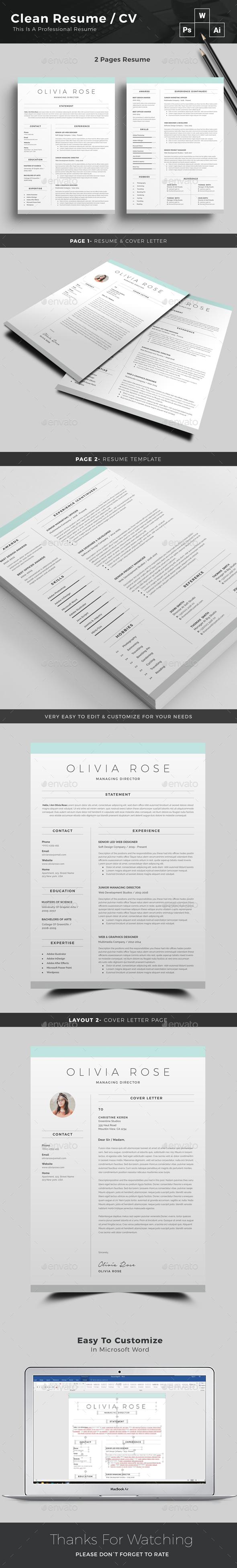 GraphicRiver Resume 20946478