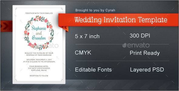Wedding Invitation Template - Wedding Greeting Cards