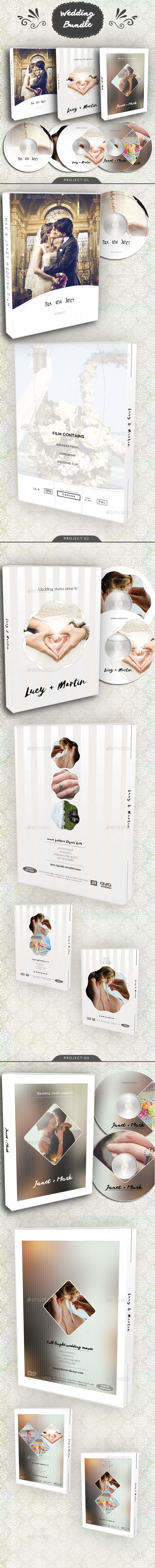 GraphicRiver Wedding DVD Blu-Ray Cover Bundle 3 20946702