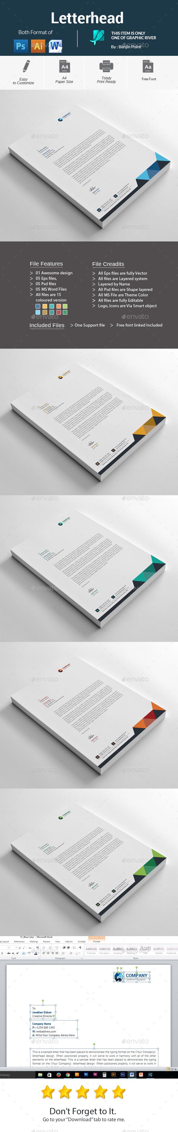 GraphicRiver Letterhead 20946856