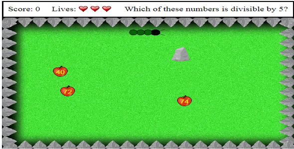 Download Math Snake HTML5 canvas Game