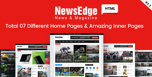 NewsEdge - News & Magazine HTML Template - Corporate Site Templates