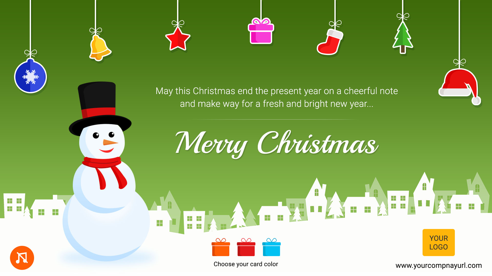 Christmas Greeting Card 3 Color Variations By Themesloud Codecanyon