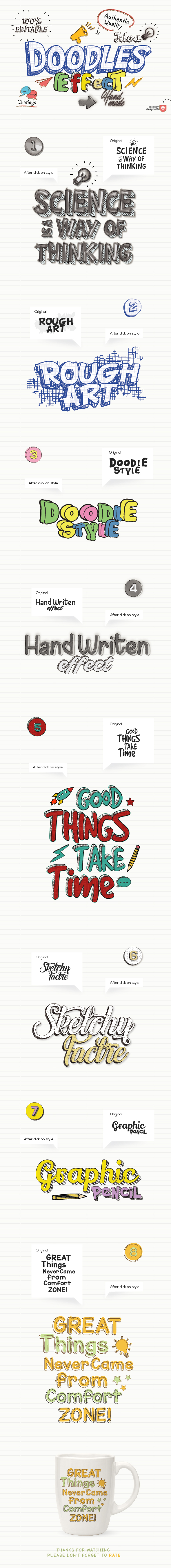Doodles Text Effect - Styles Illustrator