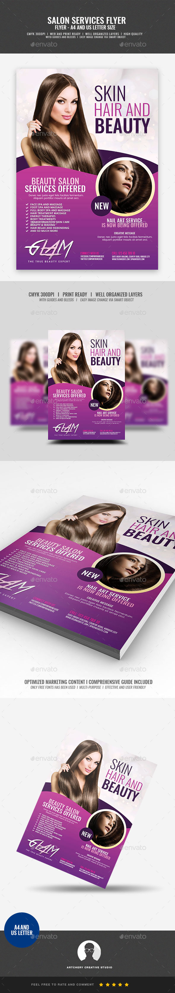 GraphicRiver Makeup and Beauty Flyer 20947054