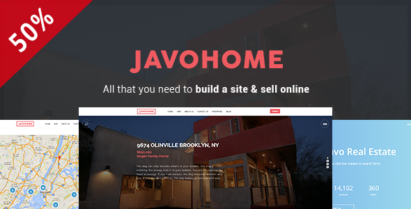 Image of Javo Home - Real Estate WordPress Theme