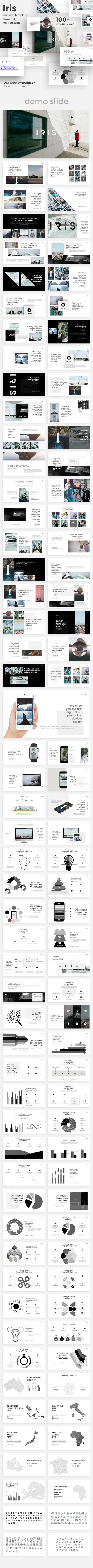 Iris Minimal Google Slide Template - Google Slides Presentation Templates