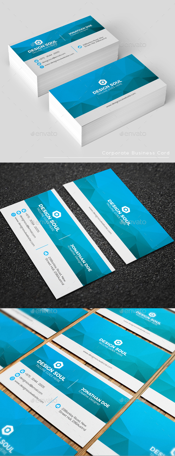GraphicRiver Corporate Business Card 20947505