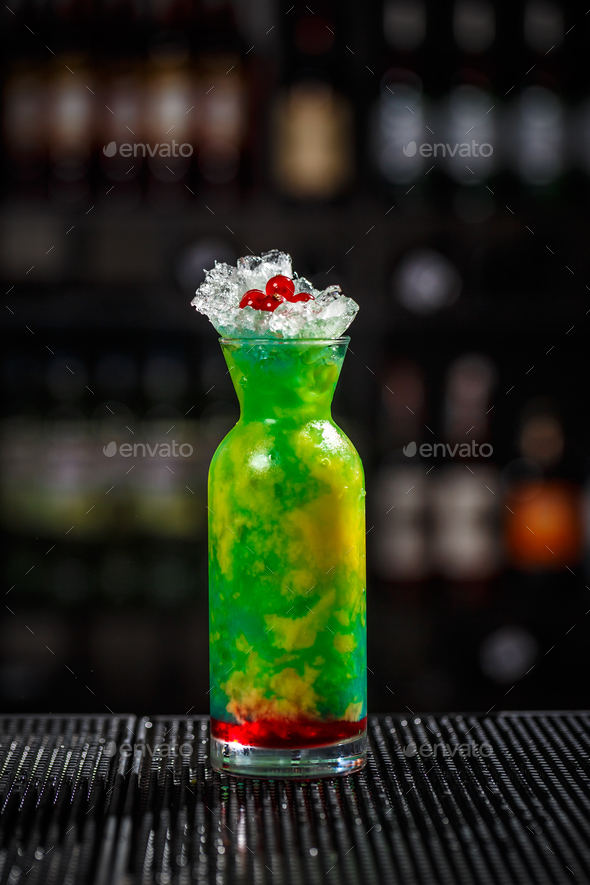 Fancy multicolored cocktail - Stock Photo - Images