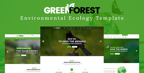 GreenForest - Environmental Ecology Responsive Template - Environmental Nonprofit